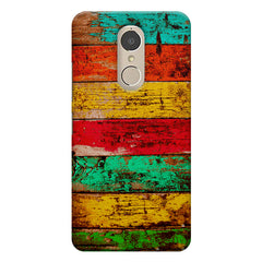 Strips of old painted woods  Lenovo k6 note printed back cover