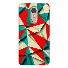 Brown and white textured  Lenovo k6 note printed back cover