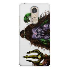 Shiva With Trishul  Lenovo k6 note printed back cover