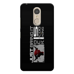 The rock, Dwayne Johnson fan design Lenovo k6 note printed back cover