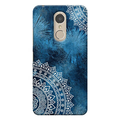 A Vivid Blue ethnic yet cool pattern Lenovo k6 note hard plastic printed back cover