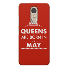 Queens are born in May design    Lenovo k6 note hard plastic printed back cover