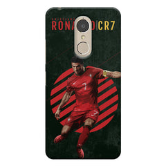 Cristiano Ronaldo Portugal    Lenovo k6 note hard plastic printed back cover