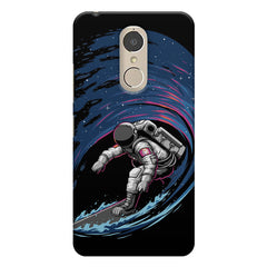 Astronaut space surfing design    Lenovo k6 note hard plastic printed back cover