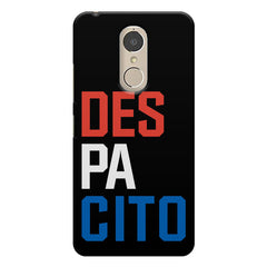 DES PA CITO design    Lenovo k6 note hard plastic printed back cover