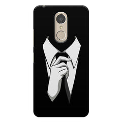 Corporate Tie design,  Lenovo k6 note printed back cover