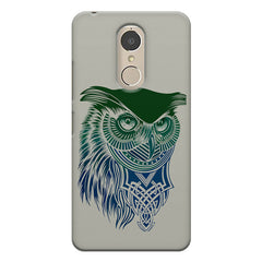 Owl Sketch design,  Lenovo k6 note printed back cover