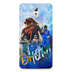 M.S Dhoni batting looks collage design    Lenovo Vibe P1M hard plastic printed back cover