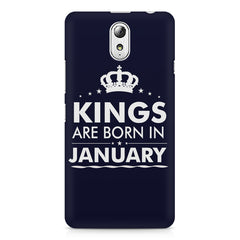 Kings are born in January design    Lenovo Vibe P1M hard plastic printed back cover