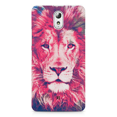 Zoomed pixel look of Lion design Lenovo Vibe P1M hard plastic printed back cover