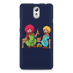 Punjabi sardars with chicken and beer avatar Lenovo Vibe P1M hard plastic printed back cover