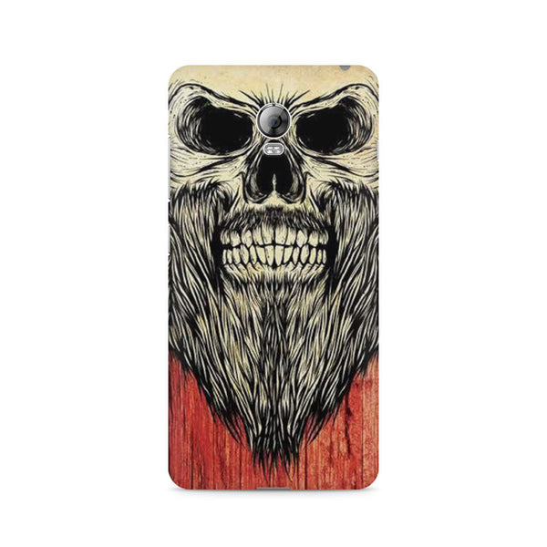 Beard Skeleton Lenovo Vibe P1 printed back cover
