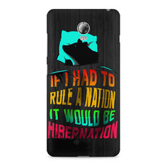 Sleep Lovers Quotes design, Lenovo Vibe P1 printed back cover