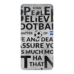 True Footballer Lover Quote design, Lenovo Vibe P1 printed back cover