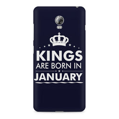 Kings are born in January design    Lenovo Vibe P1 hard plastic printed back cover