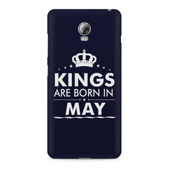 Kings are born in May design    Lenovo Vibe P1 hard plastic printed back cover