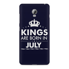 Kings are born in July design    Lenovo Vibe P1 hard plastic printed back cover