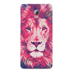 Zoomed pixel look of Lion design Lenovo Vibe P1 hard plastic printed back cover