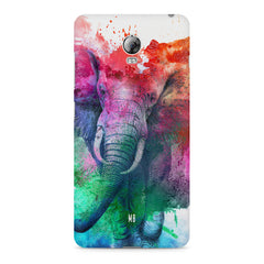 colourful portrait of Elephant Lenovo Vibe P1 hard plastic printed back cover