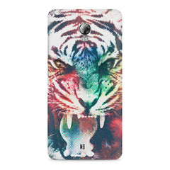 Tiger with a ferocious look Lenovo Vibe P1 hard plastic printed back cover