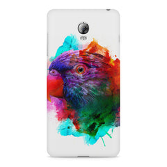 Colourful parrot design Lenovo Vibe P1 hard plastic printed back cover
