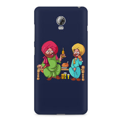 Punjabi sardars with chicken and beer avatar Lenovo Vibe P1 hard plastic printed back cover