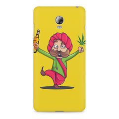 Sardar dancing with Beer and Marijuana  Lenovo Vibe P1 hard plastic printed back cover