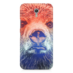 Zoomed Bear Design  Lenovo Zuk Z1 hard plastic printed back cover