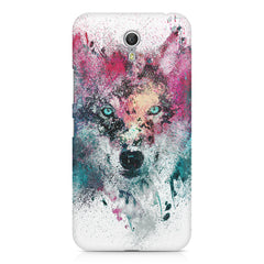 Splashed colours Wolf Design Lenovo Zuk Z1 hard plastic printed back cover