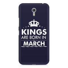 Kings are born in March design    Lenovo Zuk Z1 hard plastic printed back cover