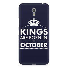 Kings are born in October design    Lenovo Zuk Z1 hard plastic printed back cover