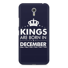 Kings are born in December design    Lenovo Zuk Z1 hard plastic printed back cover