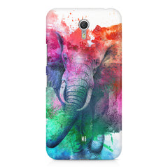 colourful portrait of Elephant Lenovo Zuk Z1 hard plastic printed back cover
