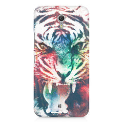 Tiger with a ferocious look Lenovo Zuk Z1 hard plastic printed back cover