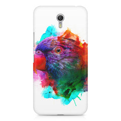 Colourful parrot design Lenovo Zuk Z1 hard plastic printed back cover