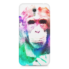 Colourful Monkey portrait Lenovo Zuk Z1 hard plastic printed back cover