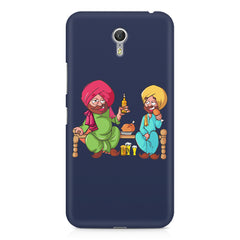 Punjabi sardars with chicken and beer avatar Lenovo Zuk Z1 hard plastic printed back cover
