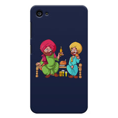 Punjabi sardars with chicken and beer avatar Lenovo zuk z2 hard plastic printed back cover