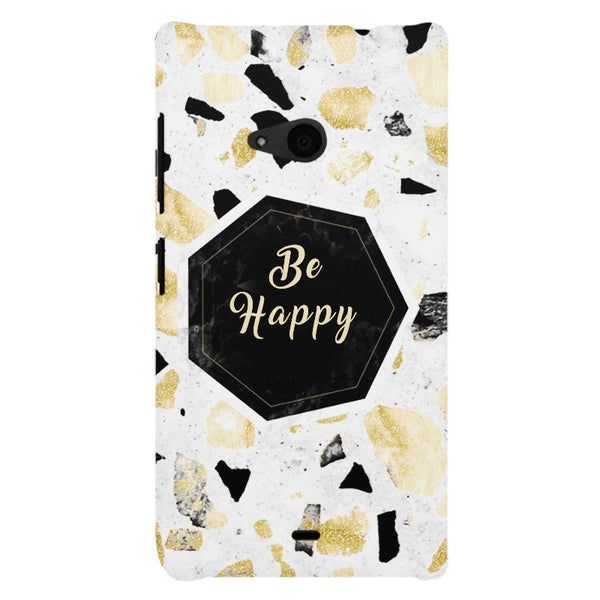 Be Happy Simple Text Quotes Nokia Lumia 535 printed back cover