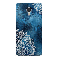 A Vivid Blue ethnic yet cool pattern Meizu M3 note hard plastic printed back cover