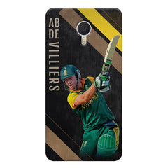 Ab De Villiers the Batting pose    Meizu M3 note hard plastic printed back cover