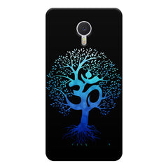 A beautiful blue tree with Om inscribed Meizu M3 note hard plastic printed back cover
