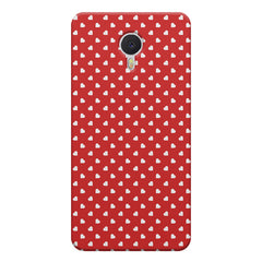 Cute hearts all over the cover design    Meizu M3 note hard plastic printed back cover