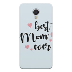 Best Mom Ever Design Meizu M3 note hard plastic printed back cover