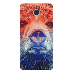 Zoomed Bear Design  Meizu M3 note hard plastic printed back cover