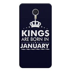Kings are born in January design    Meizu M3 note hard plastic printed back cover