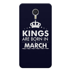 Kings are born in March design    Meizu M3 note hard plastic printed back cover