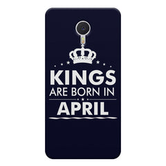 Kings are born in April design    Meizu M3 note hard plastic printed back cover