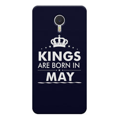 Kings are born in May design    Meizu M3 note hard plastic printed back cover