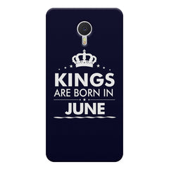 Kings are born in June design    Meizu M3 note hard plastic printed back cover